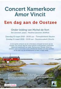 Flyer voorjaarsconcert Amor Vincit 2018