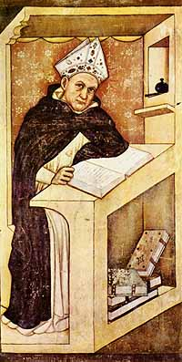 Fresco met Albertus de Grote - Tommaso da Modena - Treviso, 1352