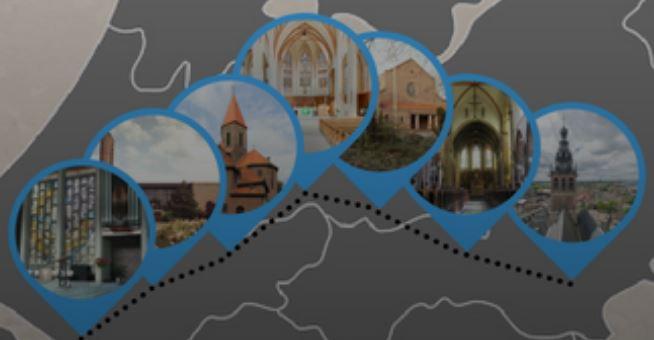 Tekening route pelgrims augustus 2018 - bron: www.dominicanen.nl
