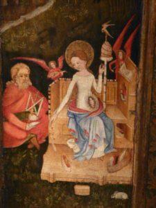 "Maria als ""spinster - miniatuur"