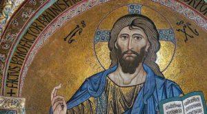 Mozaïek met afbeelding van Christus als de Pantokrator