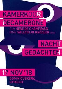 Flyer concert Decamerone, 17 november 2018