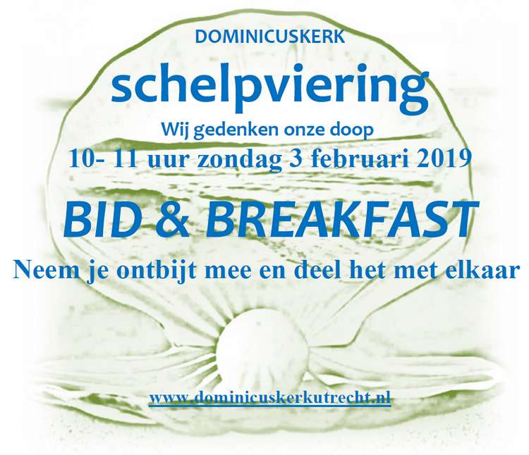 Flyer Bid & Breakfast, zondag 3 februari 2019