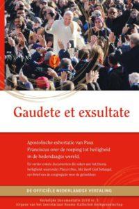 """Omslag Nederlandse vertaling van """"Gaudete et exsultate"""""""