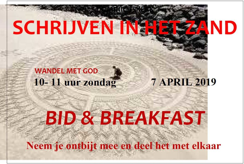 Flyer Bid & Breakfast 7 april 2019