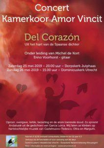 "Fl;yer concert ""De corazón"", 26 mei 2019"