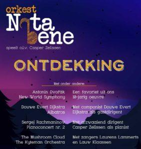 Flyer concert orkest Nota Bene, 30 juni 2019