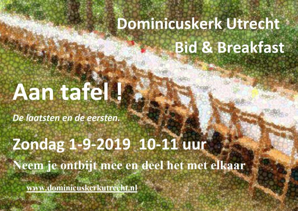 Flyer Bid & Breakfast 1 september 2019