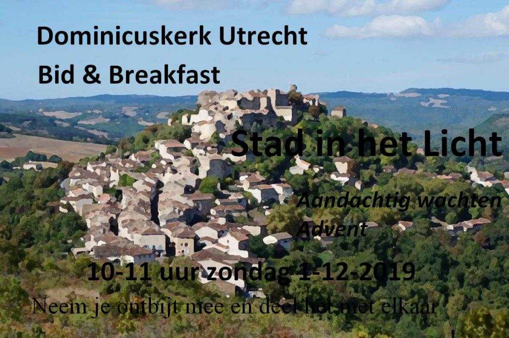 "Flyer Bid & Breakfast 1 december 2019, ""Stad in het licht"""
