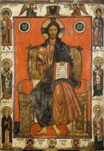 Ikoon van Christus tronend / Moskou, Tretyakov Museum