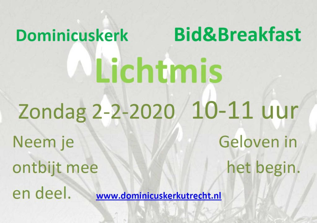 Flyer Bid & Breakfast, 2 februari 2020