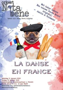 "Flyer concert ""La danse en Frabnce"" met orkest Nota Bene"