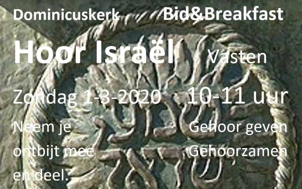 Flyer Bid & Breakfast maart 2020