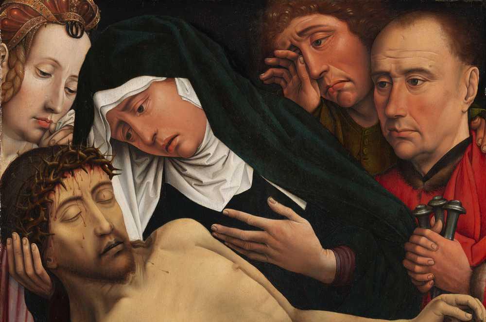 Schilderij bewening van Christus- Colijn de Coter, ca. 1504 - Amsterdam, Rijksmuseum