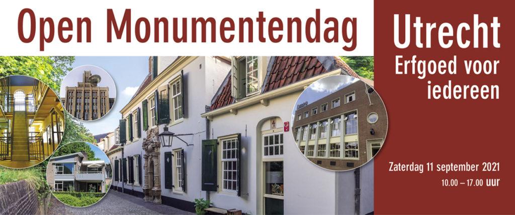 Banner Open Monumentendag Utrecht 2021